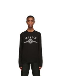 Versace Black Medusa Long Sleeve T Shirt