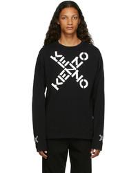 Kenzo Black Sport Big X Long Sleeve T Shirt