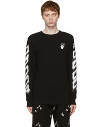 Off-White Black Spray Marker Long Sleeve T Shirt