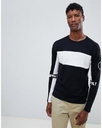 Jack & Jones Core Long Sleeve T Shirt With Block Stripe