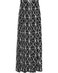 Black and White Print Maxi Skirt