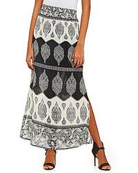 Tolani Hazel Printed Silk Maxi Skirt