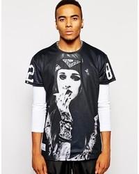 Fremont harris oversized girl t shirt in mesh medium 121350