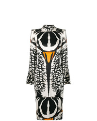 Alexander McQueen Beetle Print Midi Dress