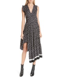 3.1 Phillip Lim Floral Print Silk Midi Dress