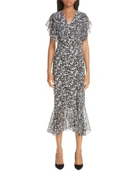 Michael Kors Painterly Floral Dress