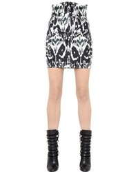 Isabel Marant Printed Stretch Cotton Denim Skirt