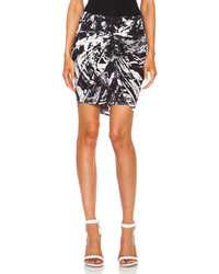 Helmut Lang Meteor Print Twist Cupro Blend Skirt