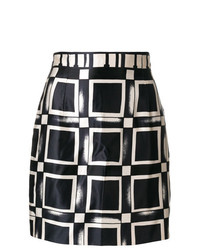 Versace Vintage Optical Print Mini Skirt