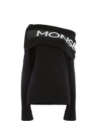 Monse Off The Shoulder Logo Sweater