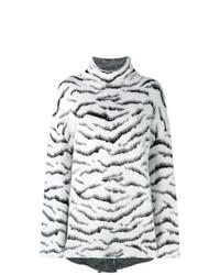Givenchy Oversized Zebra Print Sweater