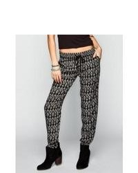 Wyldehart ethnic print drawstring pants blackwhite in sizes x small large small medium for 229828125 medium 83896