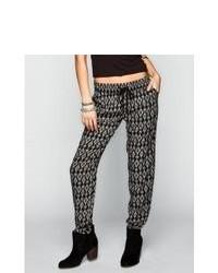 Wyldehart Ethnic Print Drawstring Pants Blackwhite In Sizes X Small Large Small Medium For 229828125