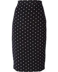 Givenchy Cross Print Pencil Skirt