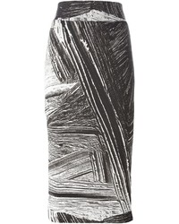 Helmut Lang Method Printed Pencil Skirt