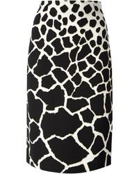 Roberto Cavalli Leopard Print Pencil Skirt