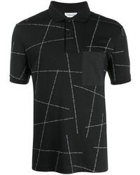 Calvin Klein Geometric Logo Print Polo Shirt