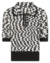 Dolce & Gabbana Geometric Pattern Knitted Polo Top