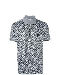 Versace Collection Geometric Print Polo Shirt