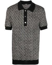 Balmain Knitted Monogram Polo Shirt