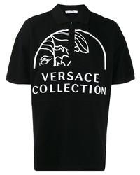 Versace Collection Logo Print Polo Shirt