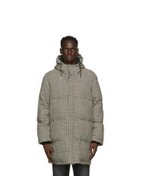 AMI Alexandre Mattiussi Black And Off White Wool Houndstooth Coat