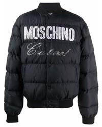 Moschino Logo Print Padded Jacket