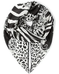 Balmain Animal Print Scarf