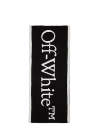 Off-White Black And White Felted Wool New Logo Scarf
