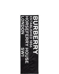 Burberry Black Silk Print Puffer Scarf