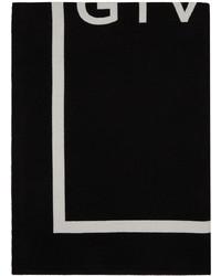 Givenchy Black White Logo Scarf