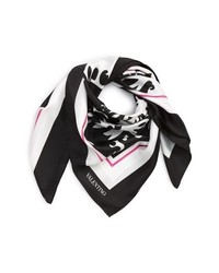 Valentino Waves Silk Scarf