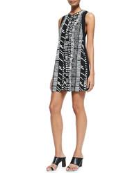 Black and White Print Shift Dress