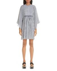 Michael Kors Gingham Seersucker Tte Dress
