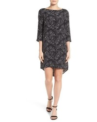 Halogen print woven shift dress medium 1158367