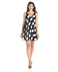 Sam Edelman Double V Neck Printed Shift Dress