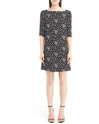 Saint Laurent Star Print Crepe Shift Dress