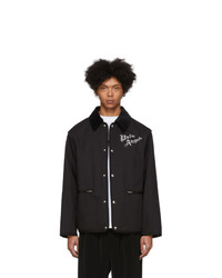 Palm Angels Black Gabardine Butterfly Jacket