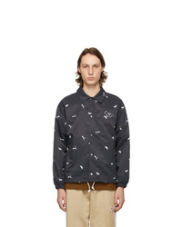 MAISON KITSUNÉ Black Puma Edition All Over Coach Jacket