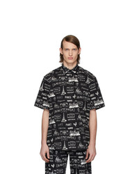 Balenciaga Black And White Paris Resto Shirt