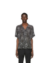 Saint Laurent Black Dotted Spiral Tte Shirt