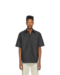 Marcelo Burlon County of Milan Black Jacquard Star Shirt