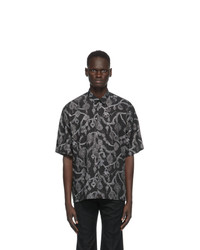 Givenchy Black Jewelry Print Loose Fit Shirt