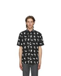 Paul Smith Black Numbers Short Sleeve Shirt