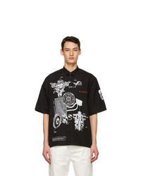 Givenchy Black Poplin Schematics Short Sleeve Shirt