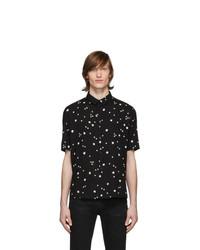 Saint Laurent Black Square Printed Shirt