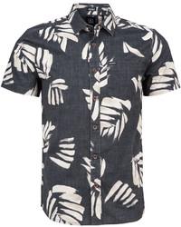 Volcom Brush Palm Print Short Sleeve Shirt