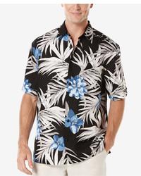Cubavera Floral Print Short Sleeve Shirt