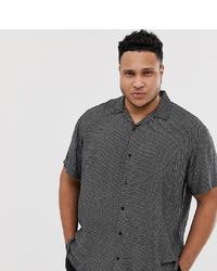 Jack & Jones Premium Plus Size Revere Collar Shirt In Ditsy Print