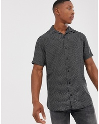 Jack & Jones Premium Revere Collar Shirt In Ditsy Print